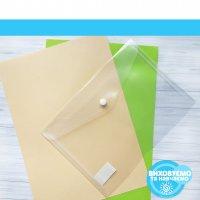 Папка-конверт А5 на кнопці, прозорий