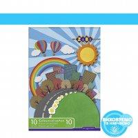 Набір кольорового картону, 10 аркушів А4: 10 кольорів