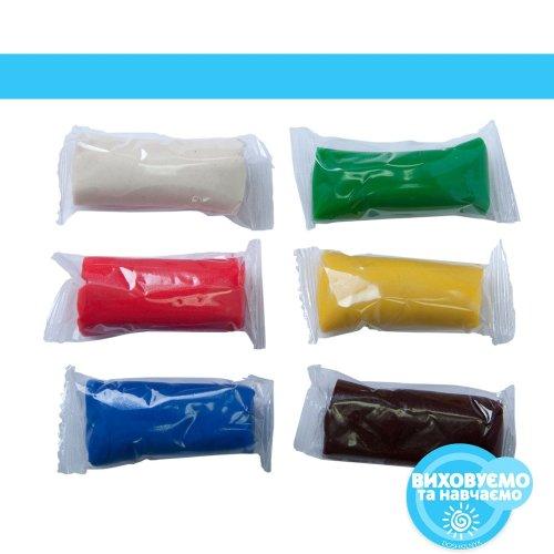 Тісто для ліплення 6*20г, 6 кольорів., в картоній упаковці