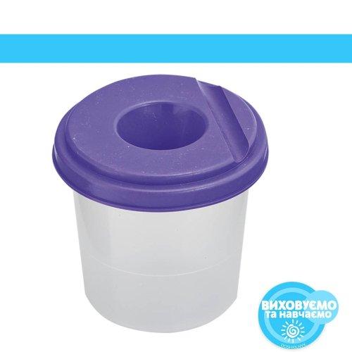 Стакан-непроливайка, фіолетовий